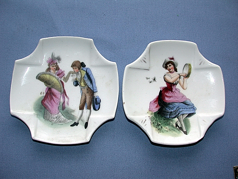 Two Antique Beautiful Victorian Hand Painted Plates