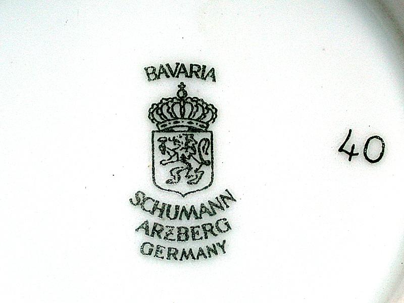 antique schumann arzberg bavaria germany floral bowl ebay. Black Bedroom Furniture Sets. Home Design Ideas