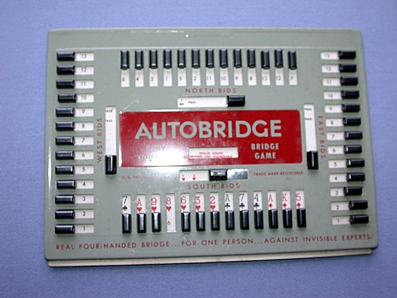Vintage 1959 Auto Bridge Play Yourself Bridge Card Game