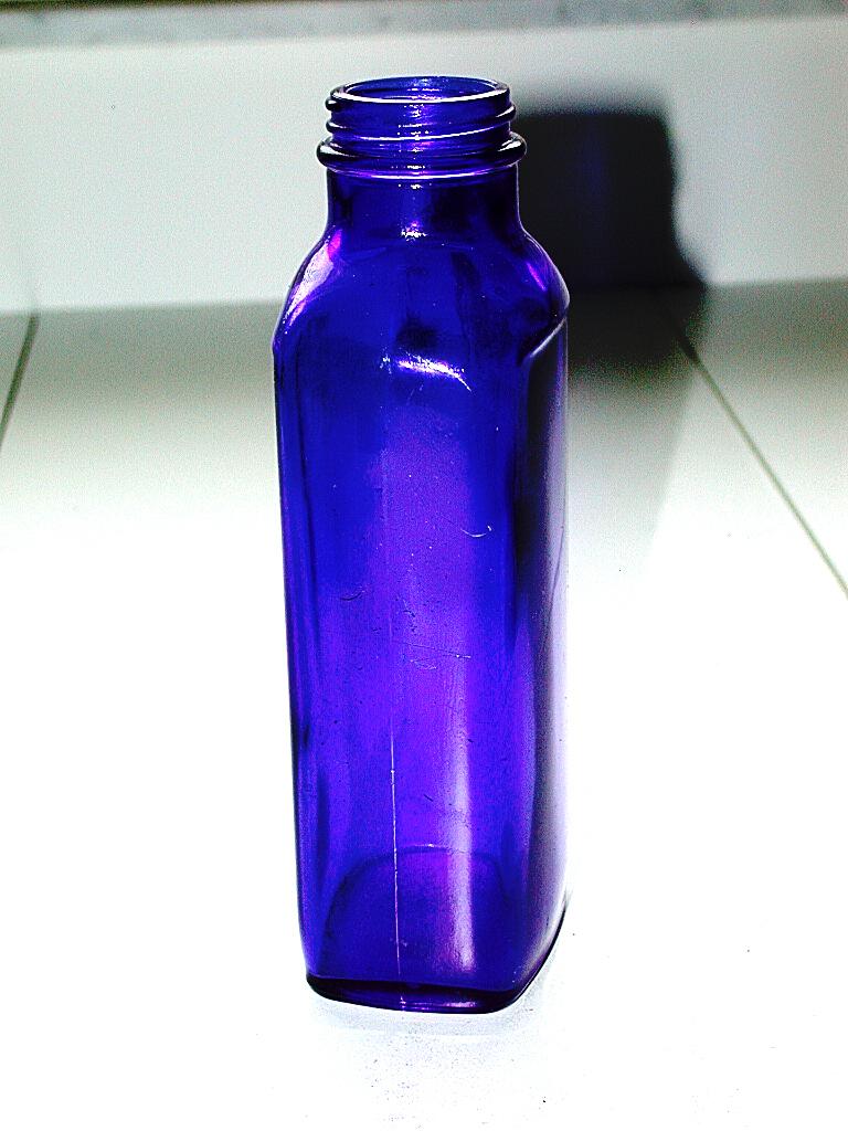 Beautiful Antique Cobalt Blue Medicine Glass Bottle Ebay