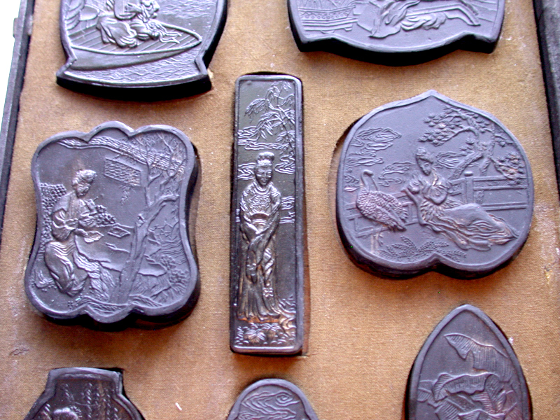 Ming Dynasty Xuande Tao Ink Stone Hand Carved Slabs For