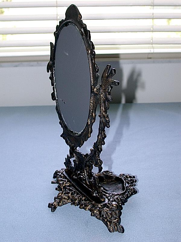 Antique Metal Victorian Swivel Vanity Table Mirror Ebay