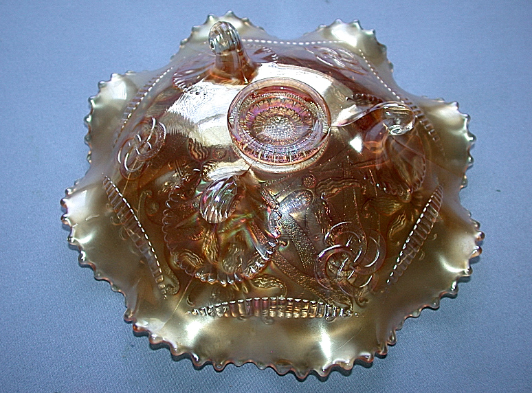 Northwood Carnival Art Glass Iridescent Marigold Amethyst